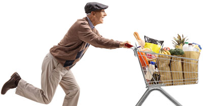Help Grandpa Fill His Grocery Cart with Better Choices