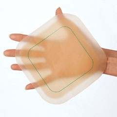 Large hydrocolloid dressing for wound