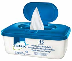 Tena Classic Sensible Washcloth Disposable Washcloths
