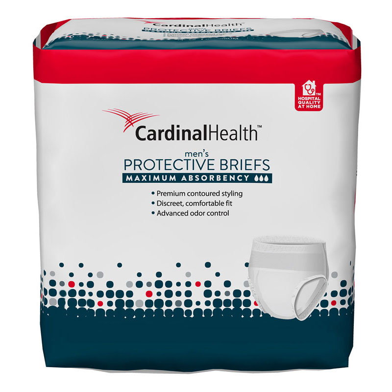 Cardinal Health Contoured Mens Underwear for Heavy Incontinence
