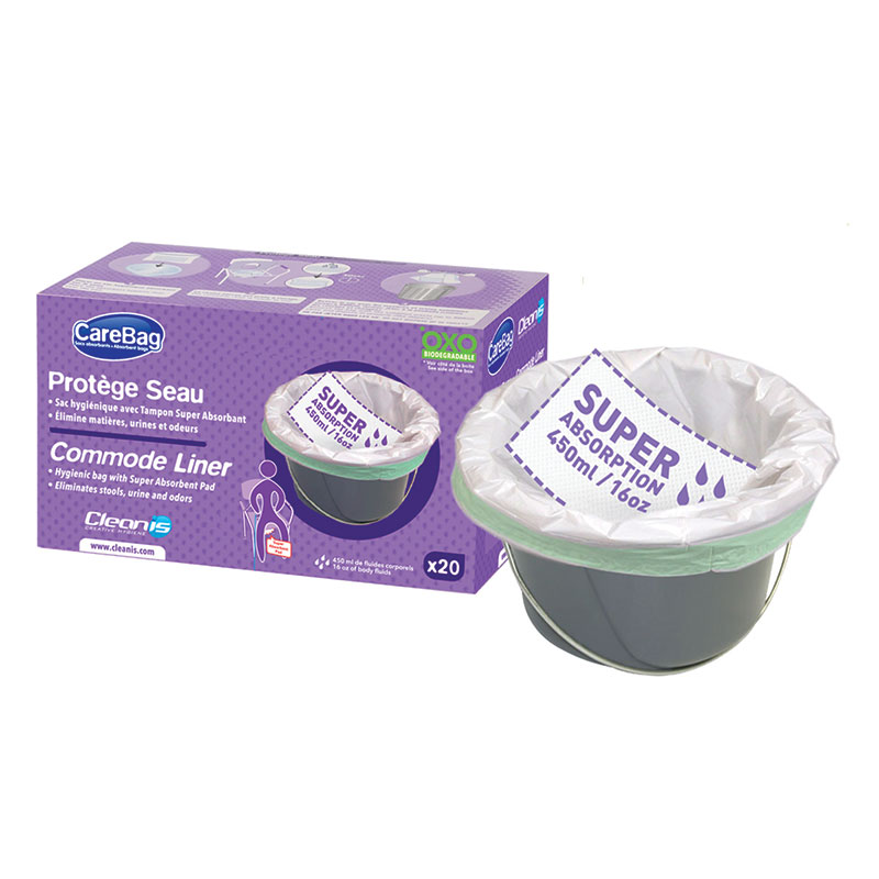 CareBag Commode Liner With Super Absorbent Pad