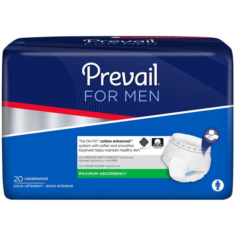 Prevail Mens Underwear for Moderate to Heavy Incontinence