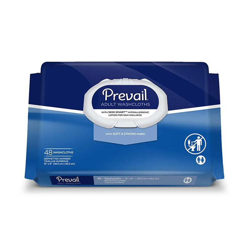 Prevail Disposable Incontinence Care Washcloths