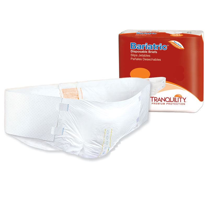 Tranquility Overnight Bariatric Briefs for Severe Incontinence