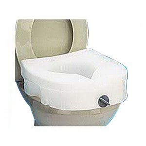 Carex EZ Lock Raised Toilet Seat