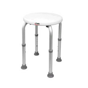Carex Compact Adjustable Round Shower Stool