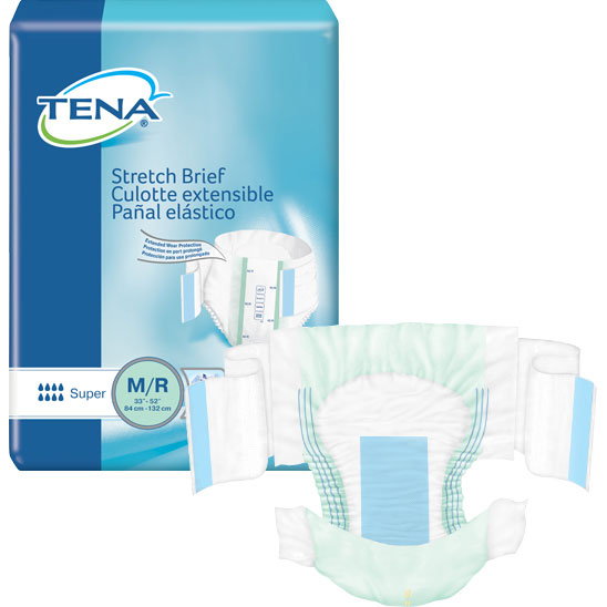 Tena Stretch Super Overnight Briefs for Severe Incontinence