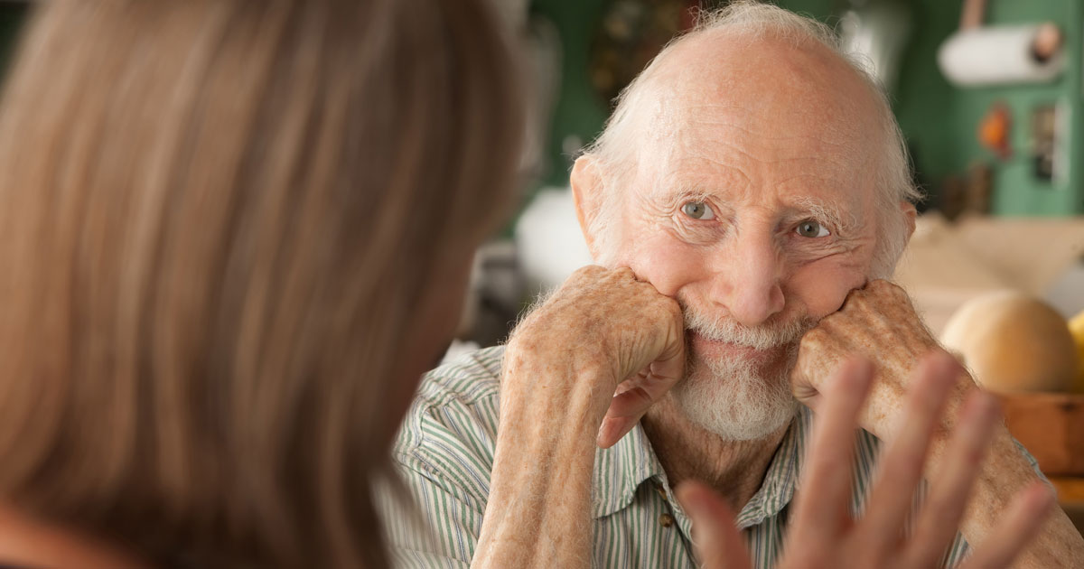 Stubborn elderly man resisting the need for home care
